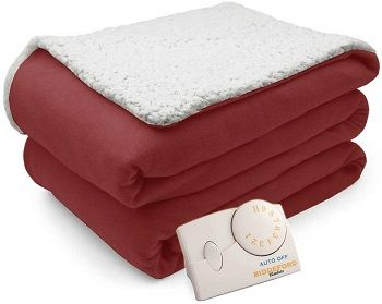 Comfort Knit Electric Heated Sherpa Blanket (Analogue)