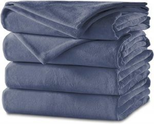 Sunbeam Velvet Heated Blanket