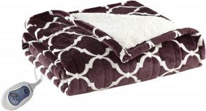 Beautyrest Ogee Purple Heated Blanket