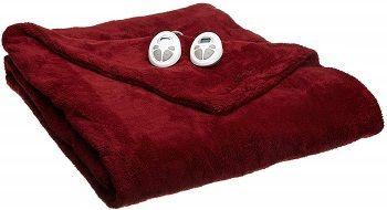 Sunbeam's King-Sized Velvet Plush Heated Blanket