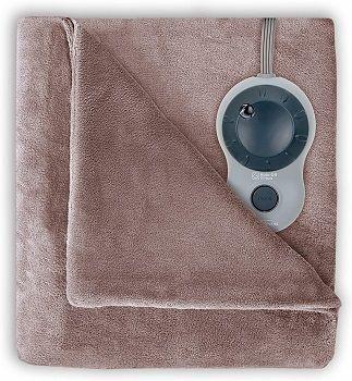 Sunbeam Heated Velvet Plush Blanket