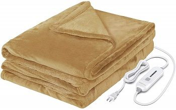 Wapaneus Heated Soft Plush Blanket
