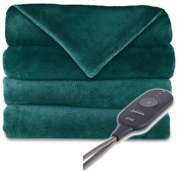 Sunbeam Microplush Heated Throw With Foot Pocket review