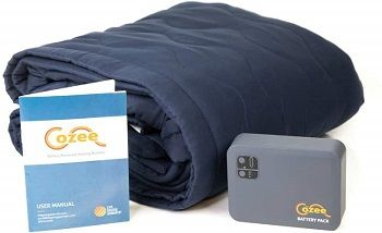The Cozee Outdoor Fleece Heated Blanket