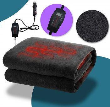 Zone Tech Car Heated Travel Blanket